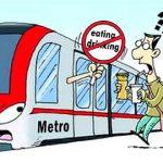 地下鉄の乗客が車内で水を飲んで罰金