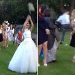 結婚式でブーケを蹴り飛ばして粉砕する新郎に世界が激怒!!!「恥知らずな男だ」