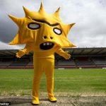 スコットランドのサッカーチームのマスコットがあまりにも酷すぎると世界で話題に!!!海外の反応「まがまがしいものを感じるね」