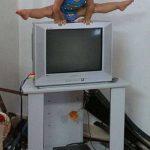 2歳児の体操演技