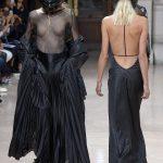 ロンドンのファッションショーでの一こま