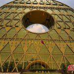 【衝撃画像】中国で世界最大の黄金の巨大円形建築物が完成!